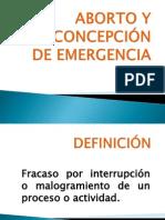 ABORTO Y ANTICONCEPCIÓN DE EMERGENCIA