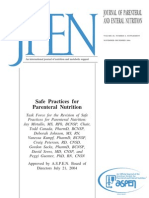 Aspen Guidelines Parenteral Nutrition