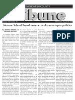 Monroe School Board member seeks more open policies