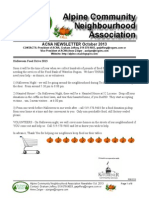 ACNA October 2013 Newsletter