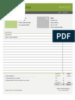 Simple Invoice Template.