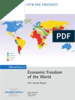 Deutsche Zusammenfassung Economic Freedom 2013