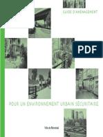 Guide Amenagement Environnement Urbain Securitaire