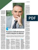 Garry Kasparov Entrevista Folha de Sao Paulo 18-07-2011