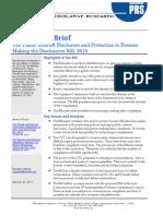 Legislative Brief - Public Interest Disclosure Bil