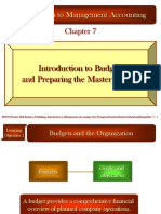 Introduction to Master Budget