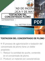 Tostacion Del Concentrado de Plomo