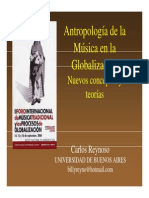 Carlos Reynoso - Antropología de la Música en la Globalización