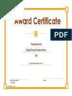 CertificateStreet BZ 011