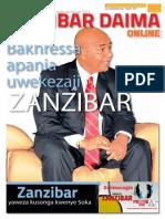 Toleo  Nambari 4 la Zanzibar Daima Online