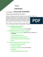 Desarollo Sostenible y Ecologia