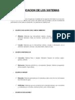 Clasificacion y Propiedad de los Sistemas