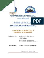 Calidad de Servicio de La Empresa Eckerd Peru1