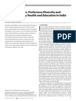 Decentralisation Preference Diversity and Public Spending Health and Education in India