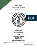 September 23 Sk Tc Agenda