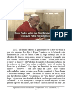 Papa Francisco en Santa Martha. 20-09-2013. Viernes XXIV Semana T.O.