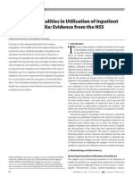 Changing Inequalities in Utilisation of Inpatient Care in Rural India Evidence From the NSS