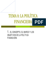 politicas financieras