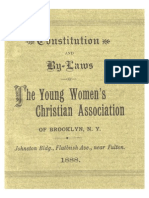 Constitution and By-Laws of The Young Women's Christian Association of Brooklyn, N.Y.  Johnston Bldg., Flatbush Ave., near Fulton.  1888.