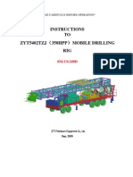 Instructions to Mod. Zyt5402tzj Mobile Drilling Rig