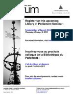 Library of Parliament's Quorum