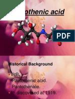 Pantothenic Acid -