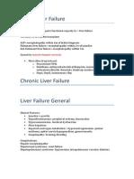 Liver Failure summary