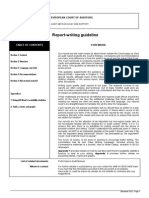 Report Writing Guideline