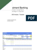 LBO Analysis Template