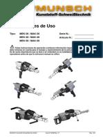 Manual Extrusora Mak 36,48 y 58