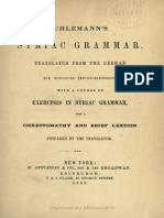Elements of Syriac Grammar