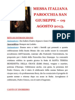Testo Messa Agosto 2013