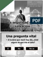 La seguridad de la salvación II aniversario IBE Callao