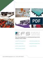 EFS Exhibit Flooring Solutions Brochure 2014
