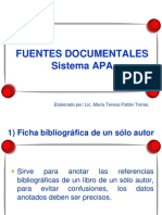 Fuentes Documentales APA