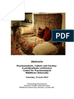 Psychoanalysis Conference Abstracts Booklet 2013