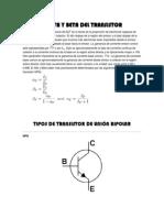 El Alfa y Beta Del Transistor