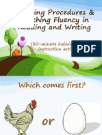 6. 30 MIN. Teaching Procedures & Teaching Fluency in Reading And