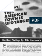 """THIS AMERICAN TOWN IS UFO TARGET, NUMBER 1. By John A. Keel and Gene Duplantier, Editor of """"Saucers, Space and Science"""" Magazine."""