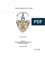 PLAN DE ESTUDIOS LIC. EN MÚSICA MINERVA