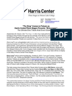 harris center elvis lives press release