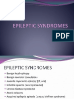 Epileptic Syndromes in paediatrics