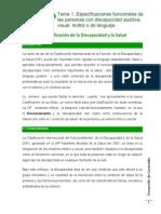 Lectura Tema 1 1.- Sistema de clasificación de la discapacidad y la salud