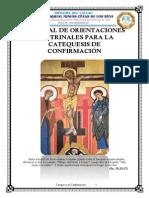 MANUAL DE ORIENTACIONES DOCTRINALES PARA LA CATEQUESIS DE CONFIRMACIÓN