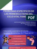 PROBLEMAS ESPECÍFICOS DE LAS PRIMERAS ETAPAS DEL CICLO