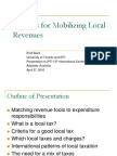 Options for Mobilizing Local Revenues, April 2010