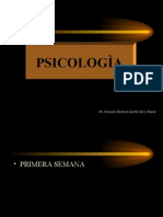PSICOLOGÌA  GENERAL