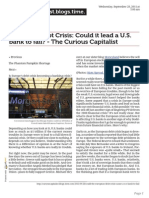 Curiouscapitalist.blogs.time.Com European Debt Crisis Could It Lead a u s Bank to Fail the Curious Capitalist