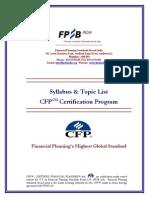 Cfp Revised Syllabus Wrt 1st Feb 2013