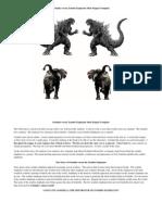Godzilla Versus Zombie Elephants Stick Puppet Template